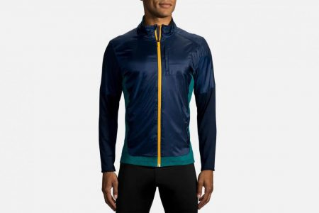 Mens Outerwear | Brooks Fusion Hybrid Jacket Running Outerwear 408