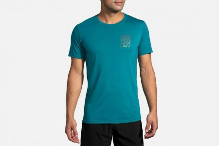Mens Tops | Brooks Distance Graphic Tee Running Tops 320