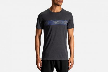 Mens Tops | Brooks Distance Graphic Tee Running Tops 41