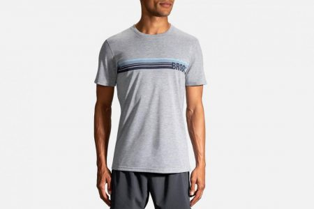 Mens Tops | Brooks Distance Graphic Tee Running Tops 42