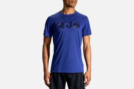 Mens Tops | Brooks Distance Graphic Tee Running Tops 427