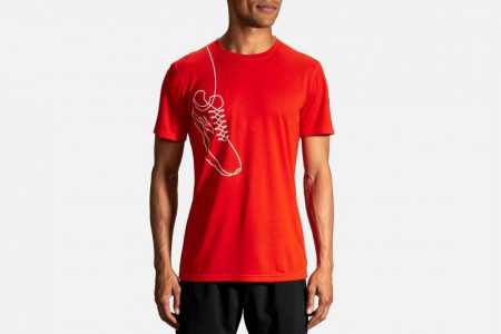 Mens Tops | Brooks Distance Graphic Tee Running Tops 696
