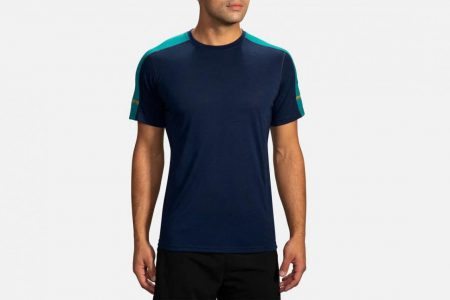 Mens Tops | Brooks Distance Short Sleeve Running Tops 485