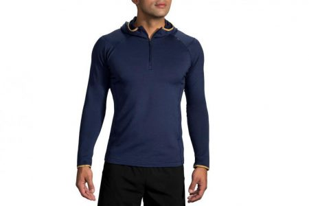 Mens Tops | Brooks Notch Thermal Hoodie Running Outerwear 495