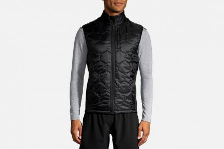 Mens Tops | Brooks Shield Hybrid Vest Running Outerwear 1