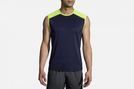 Mens Tops | Brooks Stealth Sleeveless Running Tops 410