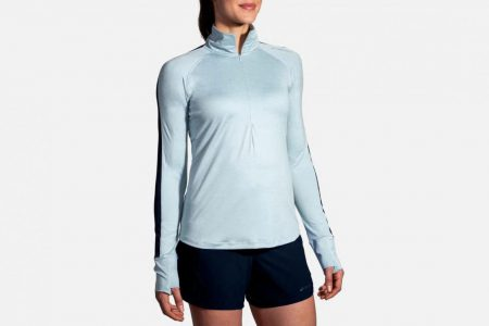 Womens Outerwear | Brooks Dash 1/2 Zip Running Outerwear 428