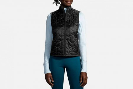Womens Outerwear | Brooks Shield Hybrid Vest Running Outerwear 1