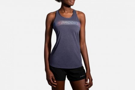 Womens Tops | Brooks Distance Graphic Tank Running Tops 485