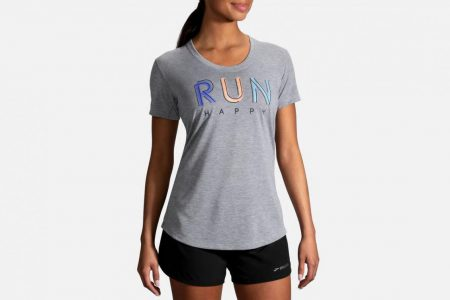 Womens Tops | Brooks Distance Graphic Tee Running Tops 51