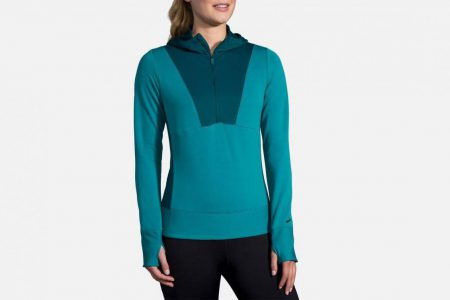 Womens Tops | Brooks Notch Thermal Hoodie Running Outerwear 396