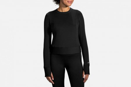 Womens Tops | Brooks Notch Thermal Long Sleeve Running Outerwear 1