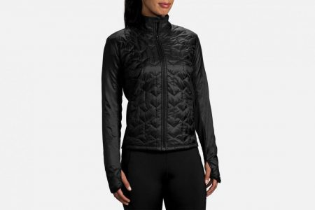 Womens Tops | Brooks Shield Hybrid Jacket Running Outerwear 1